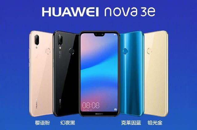 """Представлен huawei nova 3e с fullhd+ экраном и """"монобровью"""""""
