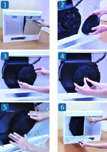 Как почистить угольный фильтр в вытяжке?