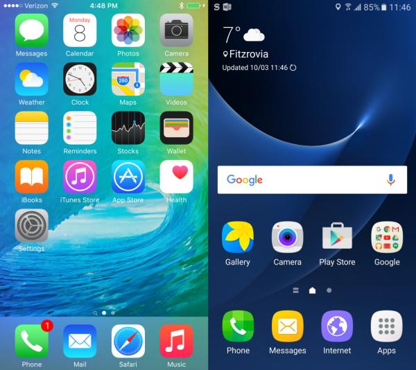 samsung galaxy s7 или iphone 6s – что лучше? Сравнение смартфонов