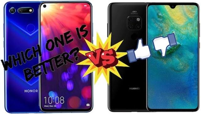 Сравнение смартфонов: honor view 20 vs huawei mate 20. Кто круче?