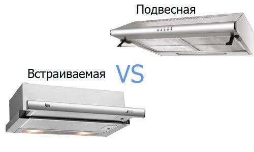 Что выбрать: встраиваемую или подвесную вытяжку?