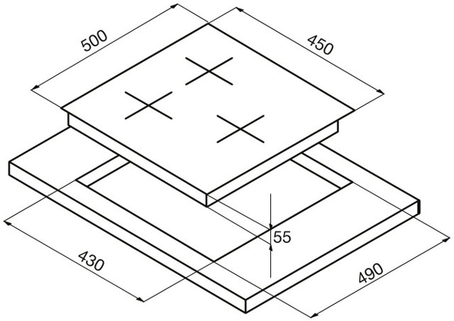 Выбор размера встраиваемой варочной поверхности