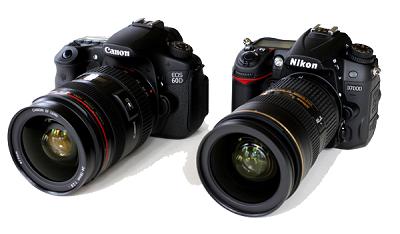 Сравнение фотоаппаратов брендов Никон и Кэнон