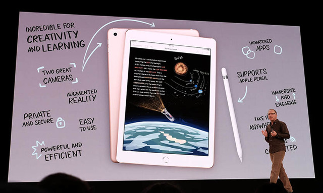 apple представил дешевый планшет для образования