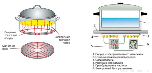 Чем отличаются индукционные варочные панели от стеклокерамических?