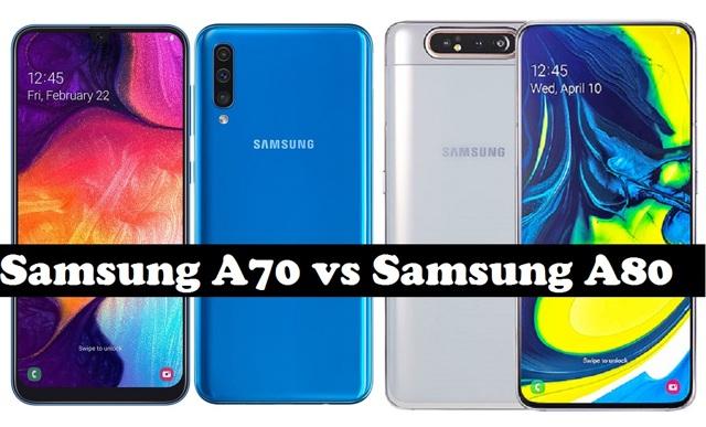 samsung galaxy a70 vs a80 – сравнение экранов, камер, процессоров, батарей