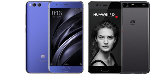 Что лучше: huawei p10 или xiaomi mi6. Сравнение смартфонов