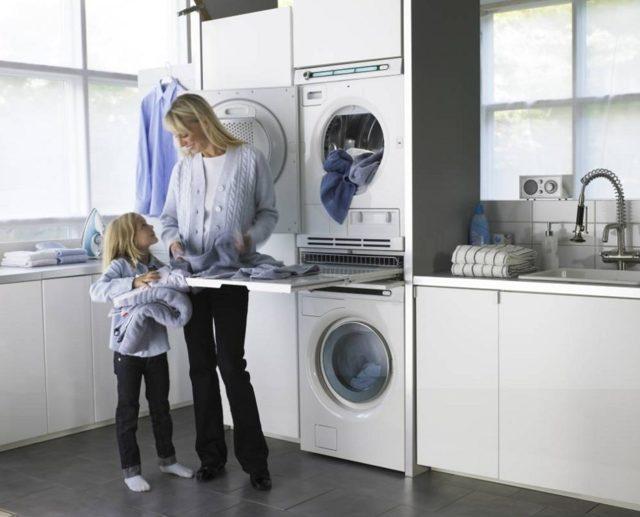 Возможна ли установка сушильной машины на стиральную машину?